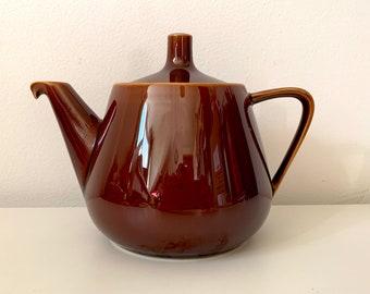 Vintage Villeroy & Boch teapot nr 5 brown glazed