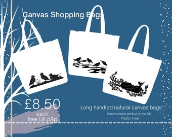 Canvas Shopping Tote Bags