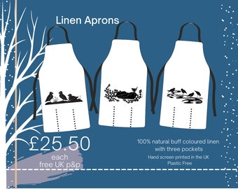 Printed Linen Apron