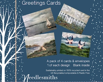 Pack of four Greetings Cards