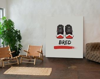 "SneakerHead X HypeBeast Wall Art ""Bred"""