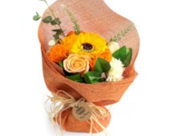 Standing soap bouquet orange