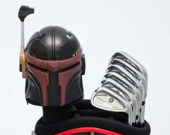 StarWars Carbon Fiber Painted Boba Fett Golf Driver Headcover