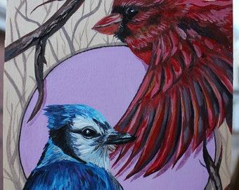 Original Bird painting 'Just Passing By'