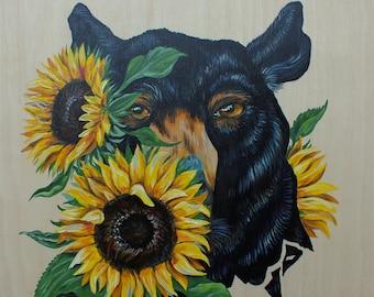Original Bear painting 'Hide and Seek'