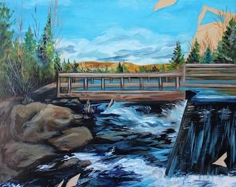 Original Landscape painting 'Crooked Slide Park'