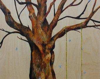 Original Tree painting 'Swinging Tree'
