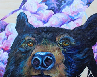 Original Bear painting 'In the Clouds'