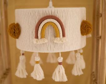 Macramé lampshade, lampshade, boho chandelier, tassel lamp