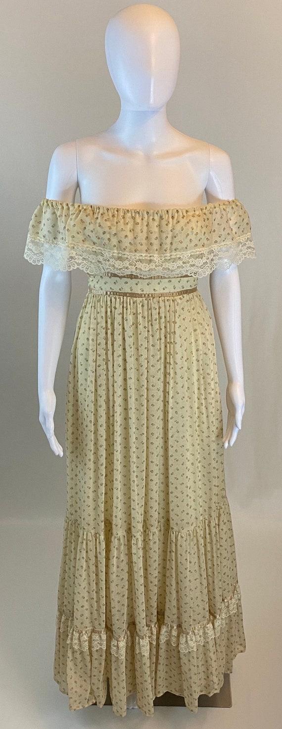 Vintage Gunne Sax Maxi Prairie Dress