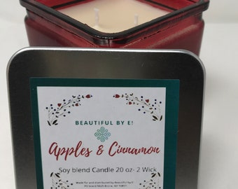 Apples & Cinnamon 20 oz Scented Soy Candle