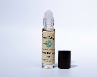 White Patchouli scented Body Oil- One 10 ml roller bottle