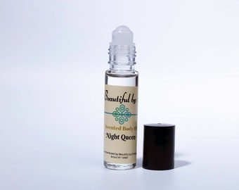 Night Queen- One 10 ml roller bottle of Scented Body Oil
