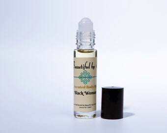 Black Woman- One 10 ml roller bottle of Scented Body Oil