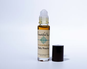 Baby Powder (type)-One 10 ml roller bottle of Scented Body Oil