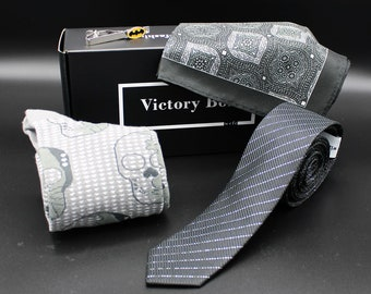 Gift Box for Men - Spooky Halloween - Subscription Box for Men, Ties, Socks, Pocket Squares, Lapel Pins, Natural Soaps, More!