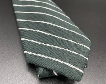 Evergreen and White Stripe Tie
