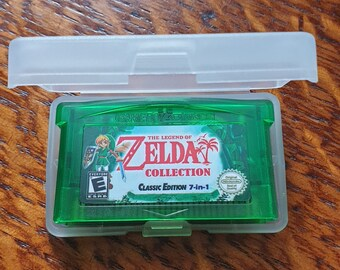 Zelda 7 in 1 GBA Collection. Nintendo Game Boy Advance Cart Includes Minish Cap, Oracles, Ages, Awakening, Link to Past, 4 Swords, Zelda 1&2