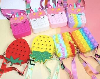 Fidget Popper, Fidget Purse, Fidget Pop It, Fidget Toy, Bubble Popper, Squeeze Sensory Toy, Cute Fidget Toy, Children Fidget Toy, Unicorn
