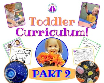 Toddler Curriculum Weeks 5-8 Bundle!