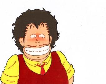 "Dr Slump animation cel, original, 10.5X9"""