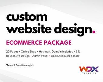 Custom Ecommerce Website, Online Shop, Design, Development, WordPress, Shopify, Wix, Website template
