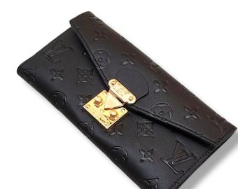 women's wallet black leather