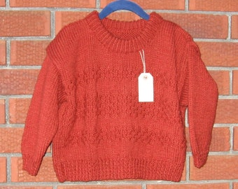 Rust Patterned Pullover  Sweater Size 4-6
