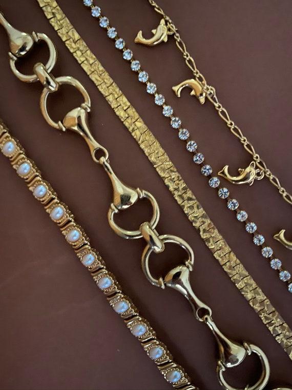 Vintage gold tone bracelets