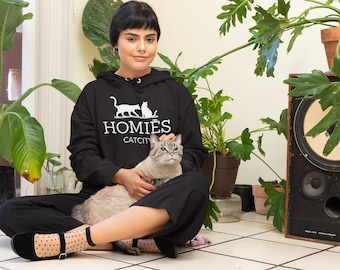Homies Catcity Hoodie - Unisex - hoodie for cat owners (a.k.a. cat mom + dad ) and cats - fans - gift for people who love cats