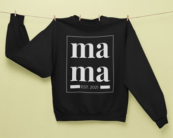 Proud Mom 2021 Sweater customized - Mom Sweatshirt personalized - Birth Gift for Mother - Mothers Day - Sweater Mom personalized
