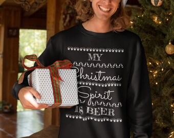 Christmas Jumper Beer - Sweater Unisex Christmas Beer - Christmas Outfit - Christmas Gift - Christmas Sweatshirt - Ugly Christmas