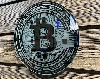 Laser Engraved Bitcoin Mirror