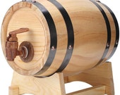 1.5L Household Mini Pine Wood Wine Barrel Keg Wooden Beer Brewing Equipment for Tequila Whiskey Rum Aging Storage