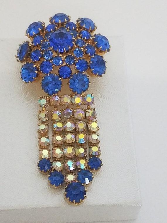 Vintage Juliana D & E Rhinestone brooch