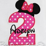 Minnie Mouse Birthday Shirt, Minnie Birthday Shirt, Girls Birthday Shirt, Custom Birthday Shirt, Personalized Birthday Shirt, Birthday Shirt