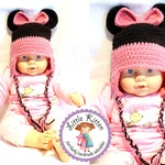 Minnie Mouse Crochet Hat - Custom Colors and Size - Newborn Photo Prop  Made To Order