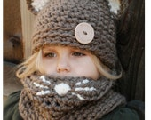 Crochet PATTERN-The Camille Cat Set (Toddler, Child and Adult sizes) photo