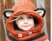 KNITTING PATTERN - Failynn Fox Cowl (12/18 months - Toddler - Child - Adult sizes) photo