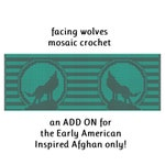 Facing Wolves ADD ON Mosaic Pattern