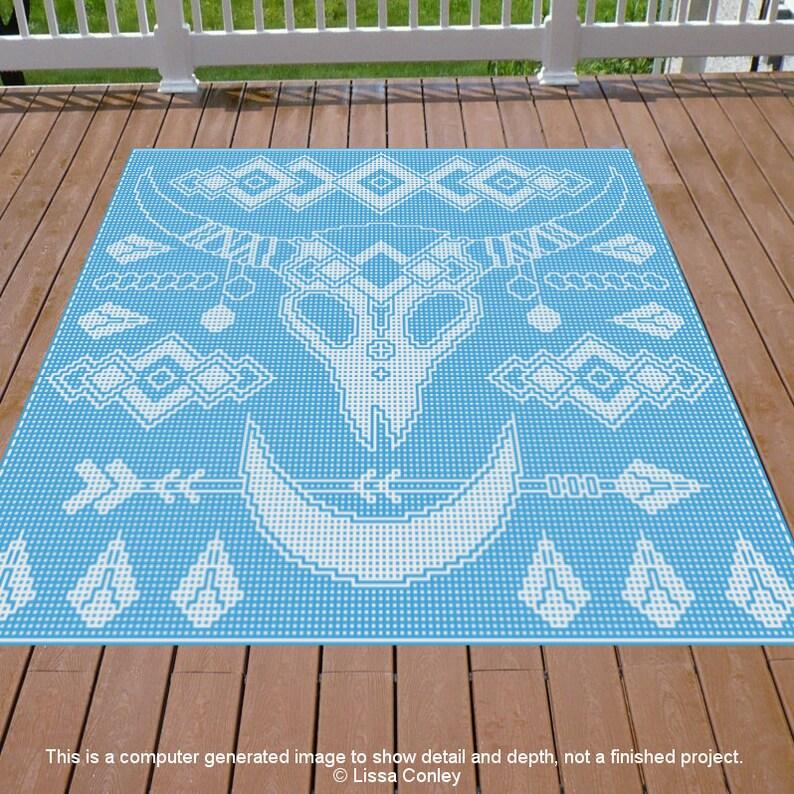 Steer Skull Medley Mosaic Crochet Pattern image 0