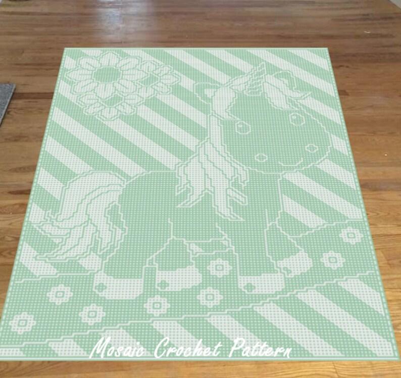 Crofastic Unicorn Full Bed Top Mosaic Crochet Pattern image 0