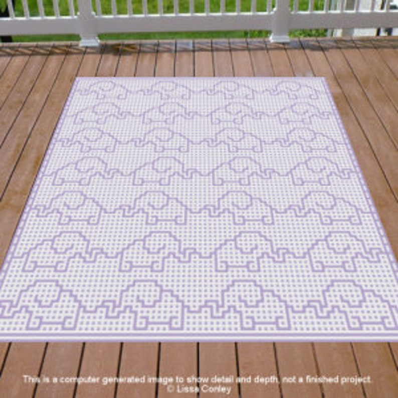 Marching Elephants Mosaic Crochet Pattern image 0