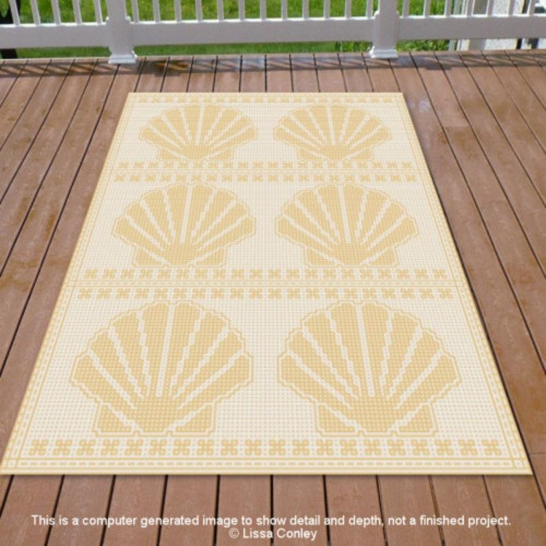 Sea Shell Medley Mosaic Crochet Pattern image 0