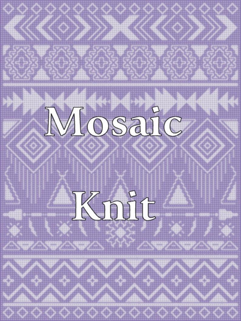 Intrinsic Spirit Queen Bed Mosaic Knit image 0