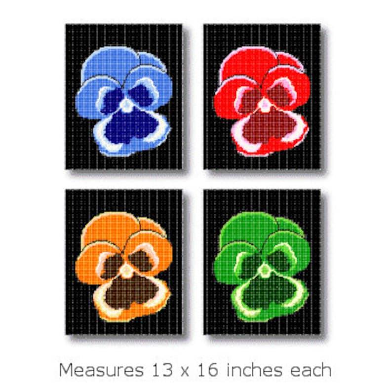 Pansies Plastic Canvas Pattern image 0