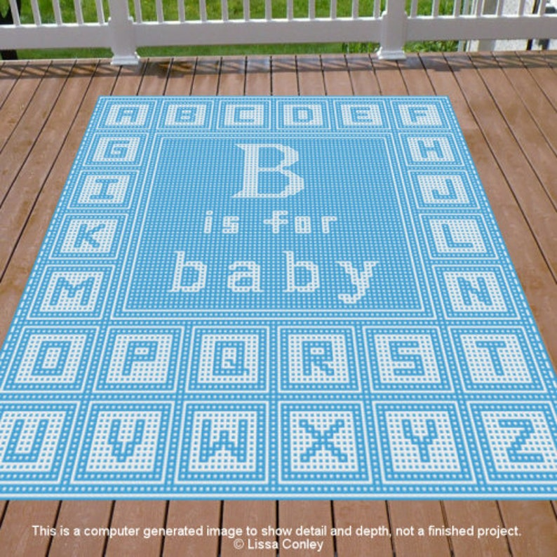 Builing Blocks B is for Baby Mosaic Crochet Pattern image 0