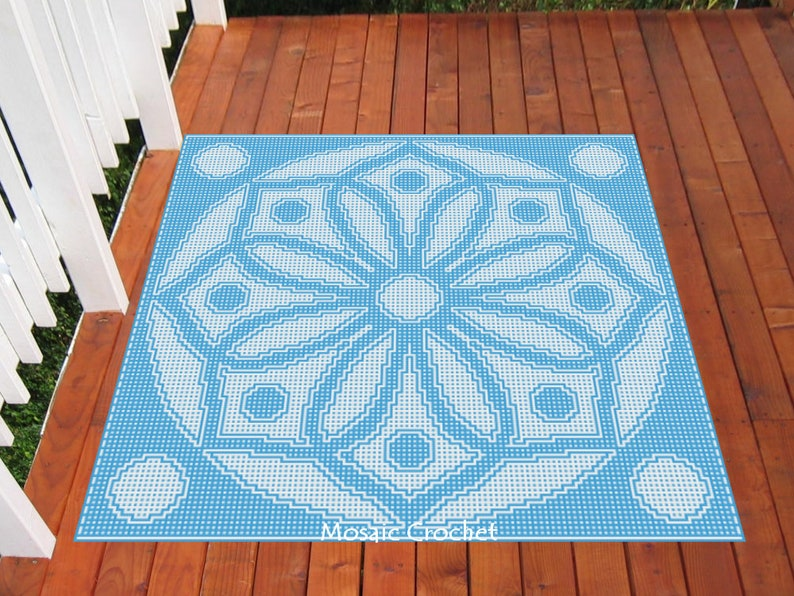 Harmony Large Throw Mosaic Crochet Pattern image 0
