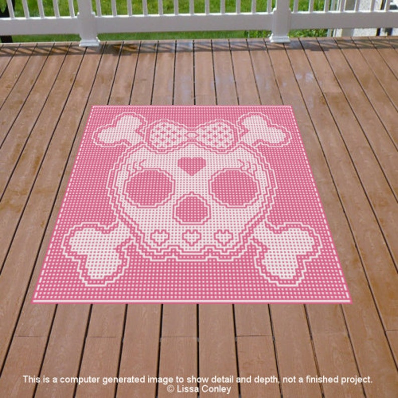 Skulletta Toddler Throw Mosaic Crochet Pattern image 0