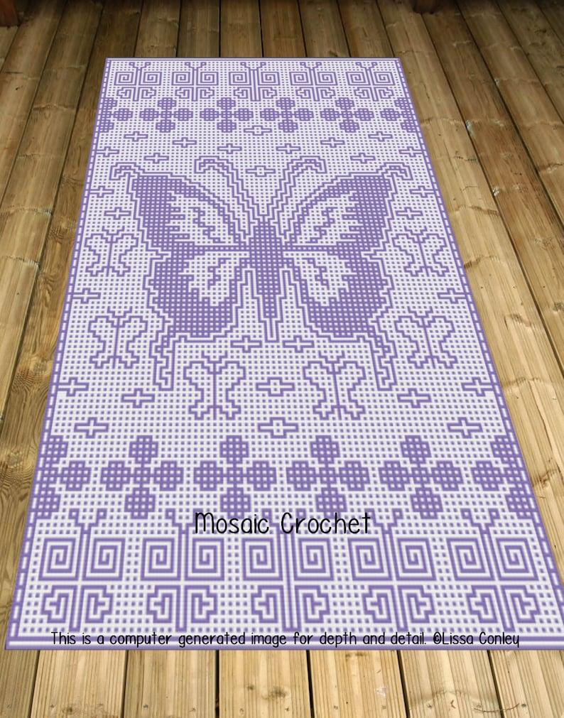 Butterfly Medley Twin Bed Mosaic Crochet Pattern image 0